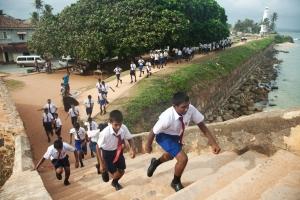 School kids in Gaul Fort