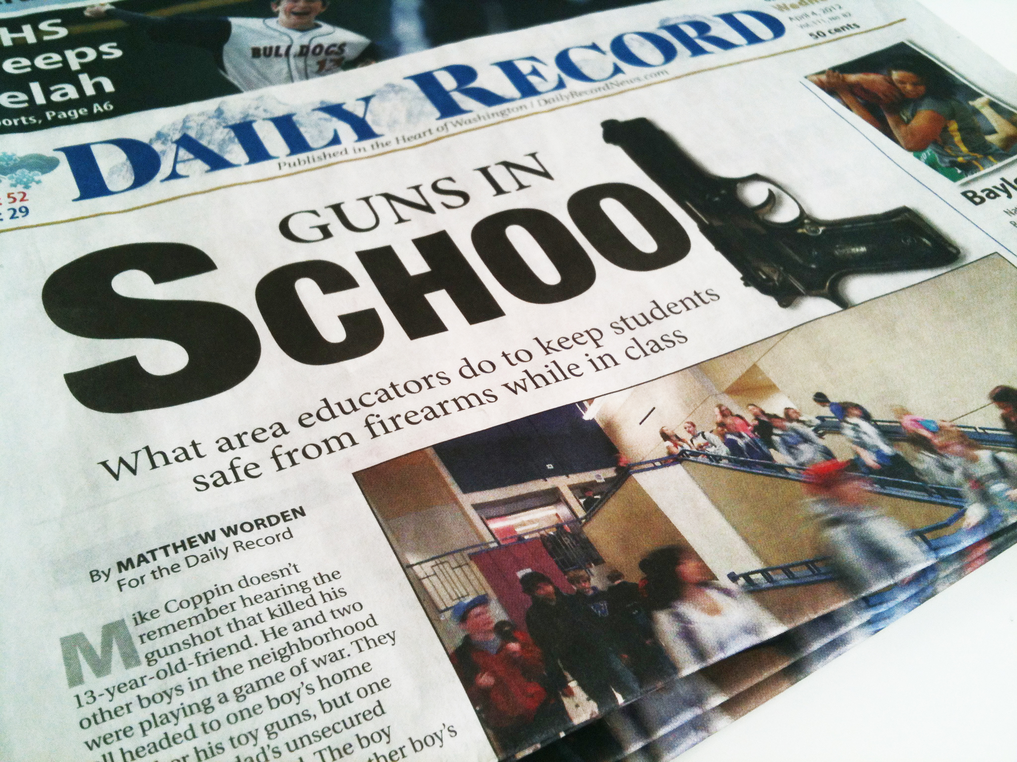 "My Story For the Daily Record – ""Guns in schools What local"
